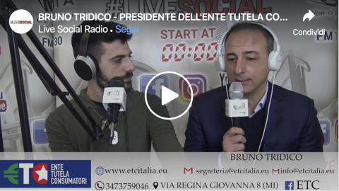Bruno Tridico su Live Social Radio